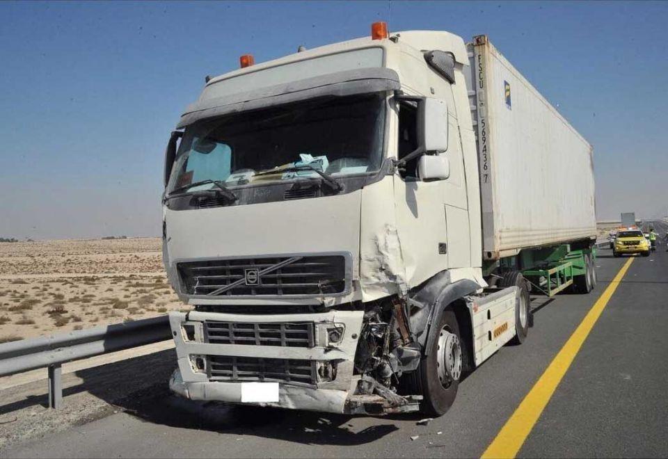 truck accident in UAE
