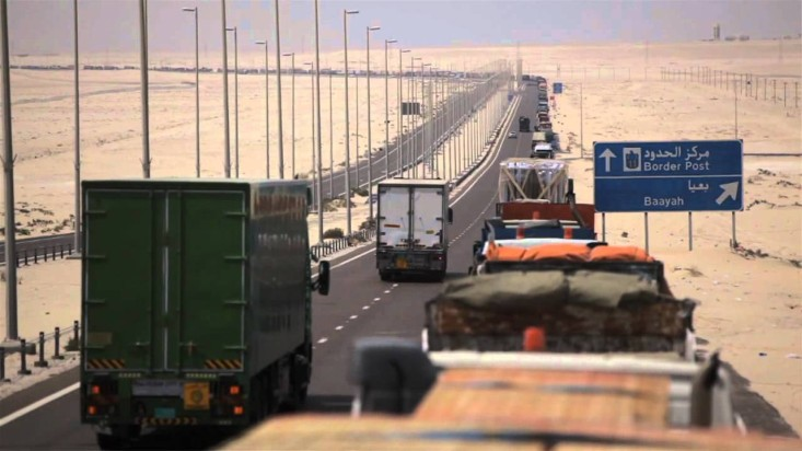 trucks on middle east highway