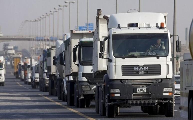 trucks on UAE roads